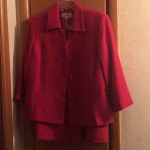Cranberry red LeSuit  2 piece suit